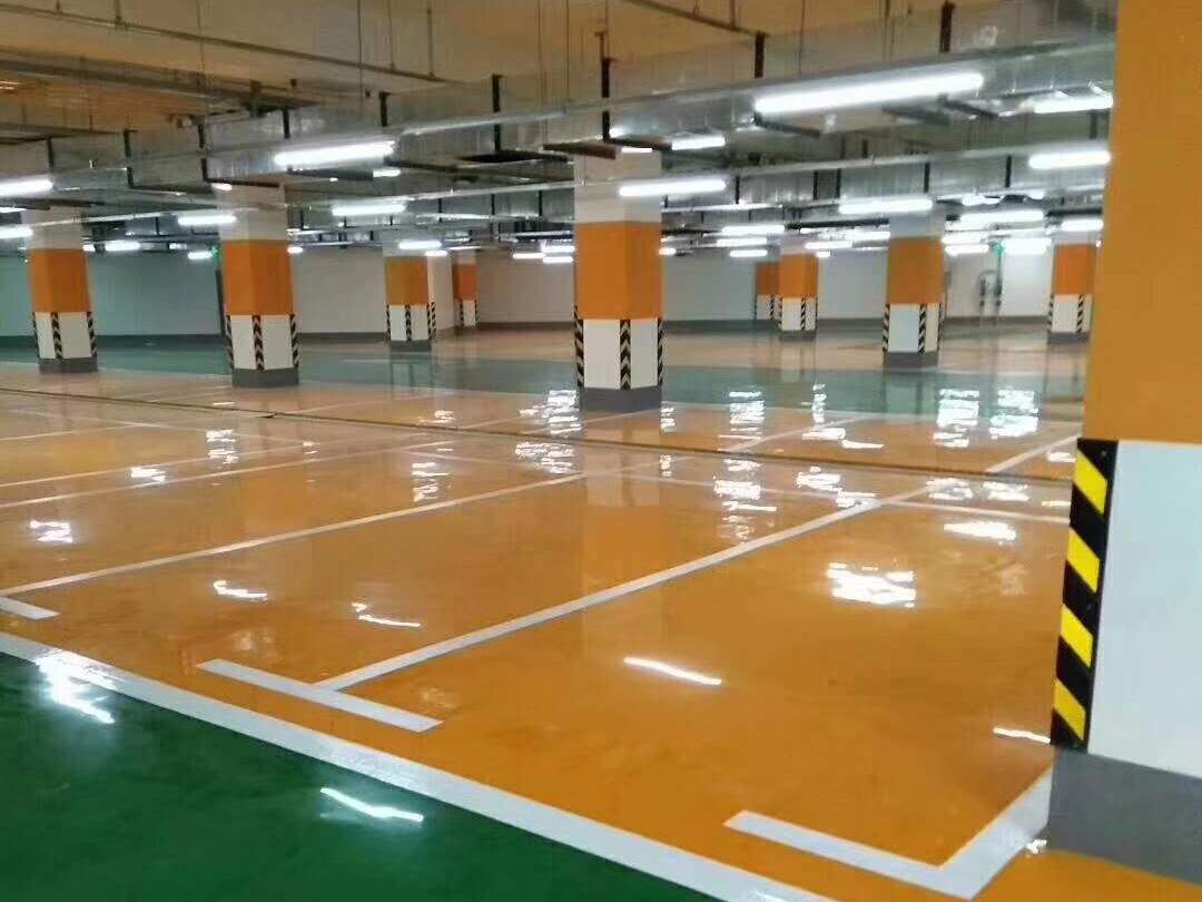 广州地下停车场环氧砂浆平涂地坪漆