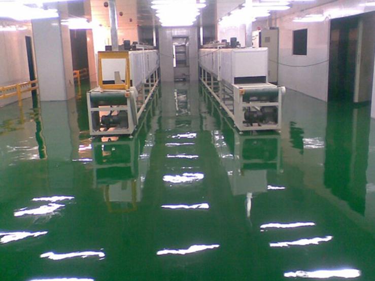 深圳电子厂环氧防静电自流平案例