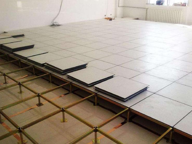 惠州机房防静电地铺施工案例
