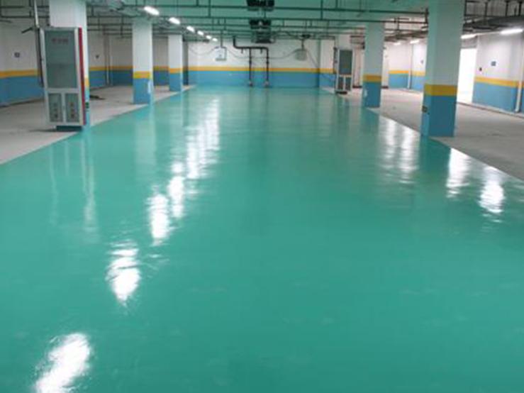 广州地下停车场地坪漆施工案例