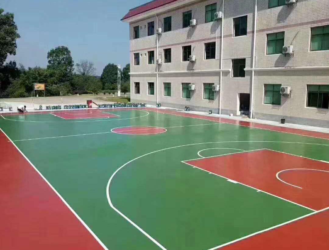 广州硅PU蓝球场