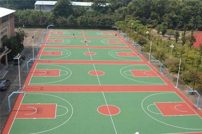 硅PU球场施工的篮球场能用多久?