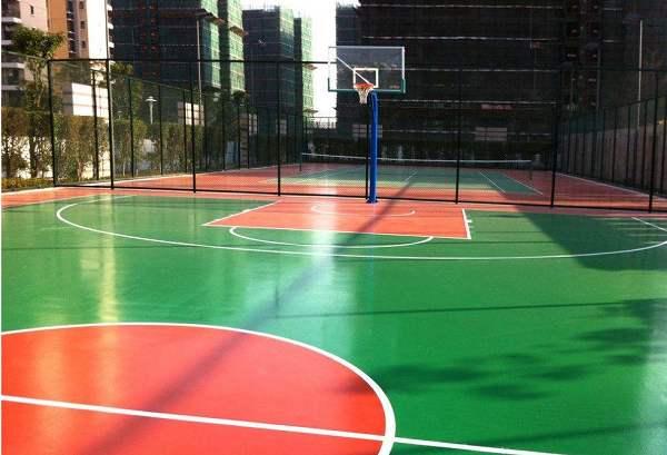 为什么选择硅PU材料来做篮球场施工的材料?
