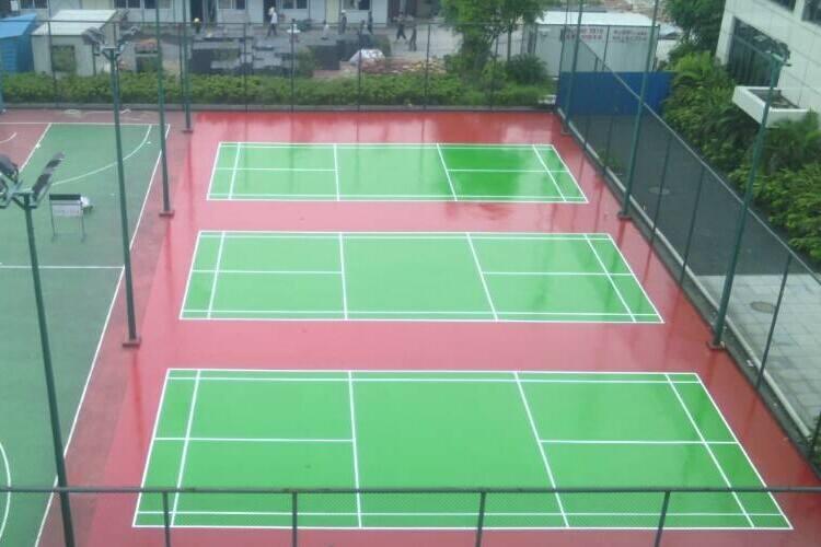 硅PU球场施工厂家地坪漆材料与硅PU材料的区别?